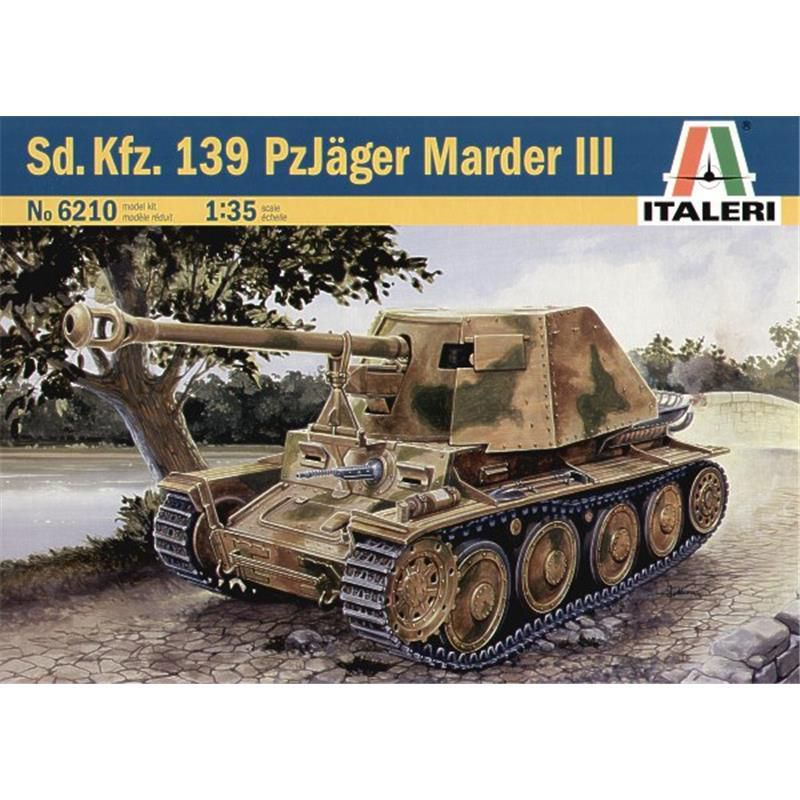 sd kfz panzerj ger marder iii italeri 6210 m 1 35 verlag milit rgeschichte modellbau fachl. Black Bedroom Furniture Sets. Home Design Ideas