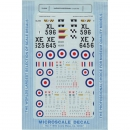 1:72 - Hawker Hunters MK. 7/9/10 / Microscale Decals Nr. 548