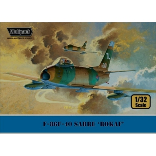 F-86F-40 Sabre ROKAF Aggressor and tactical fighter, Wolfpack 13201, Maßstab 1:32