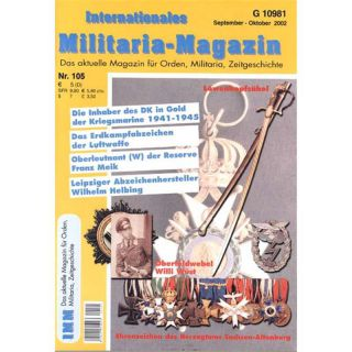 Internationales Militaria-Magazin IMM Nr. 105