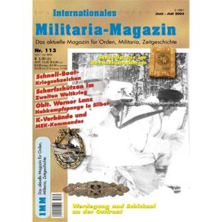 Internationales Militaria-Magazin IMM Nr. 113