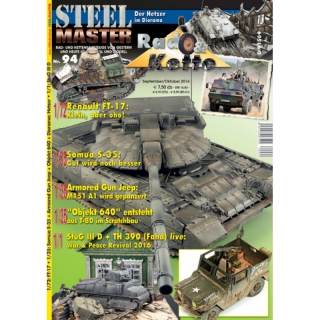 STEELMASTER Nr. 94 - Wheeled and tracked vehicles of yesterday and today in the original and model