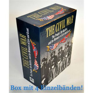 The Civil War - The people, the battles and the Memoirs of Lee and Grant - Schuber mit 4 Bänden