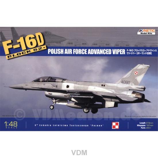 F-16D Polish Airforce Advanced Viper 1:48 Kinetic Model Kits 48010