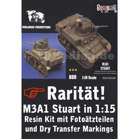 M3A1 STUART Resin Kit in 1:15 Verlinden Productions 889