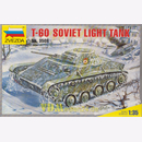 T-60 Soviet Light Tank, Zvezda 3508, M 1:35 Modelling Red...