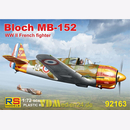 Bloch MB-152 WW II French Fighter, RS Models, 1:72, (92163)