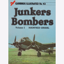 Junkers Bombers Volume 1 - Warbirds Illustrated No 43 -...
