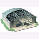 Hangar Flugzeughalle - GPM Carton Laser Cutting Model 1:48