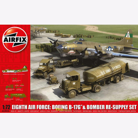 Eighth Air Force: Boeing B-17G & Bomber Re-Supply Set Airfix A12010 M 1:72 Modellbau