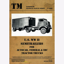 U.S. WW II Semitrailers for Autocar, Federal & IHC...
