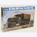 US White 666 Cargo Truck (Hard Top) 1: 35 Hobby Boss 83801