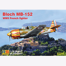 Bloch MB-152 WWII French Fighter, M 1/72 RS Models 92217