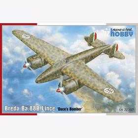 88B Lince Duces Bomber Modellbausatz Flugzeug Special Hobby 72397 Breda Ba