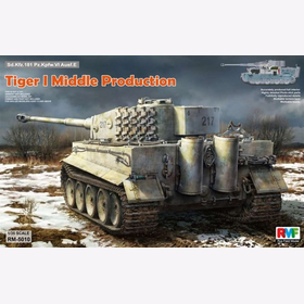 Tiger I Middle Production Rye Field Model RM-5010 1:35  Plastikmodellbau Wehrmacht
