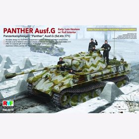 Panther Ausf. G Early/Late Versions with Full Interior Rye Field Model RM-5016 1:35 Plastikmodellbau