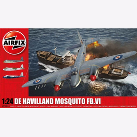 De Havilland Mosquito Airfix A25001A 1:24 WW2 Royal Air Force