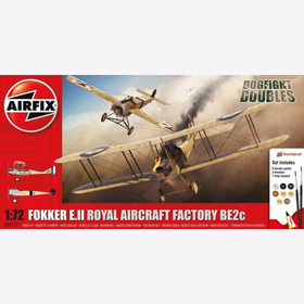Fokker E.II Royal Aircraft Factory BE2c Dogfight Doubles Airfix A50177 1:72 Erster Weltkrieg