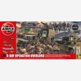 D-Day Operation Overlord Battlefield Diorama Base Airfix A50162 1:76 Inklusive Farben, Klebstoff und Pinsel