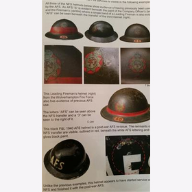 Cotton Helmets of the Home Front Markierungen Stahlhelm Tommy British WW2