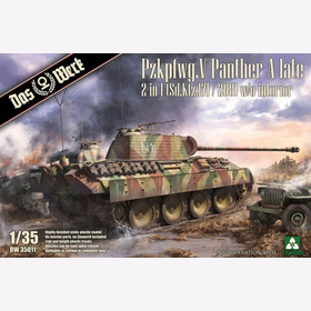 Pzkpfwg. V Panther A late 2 in 1 (Sd.Kfz.171/ 268) w/o interior Das Werk DW35011 1:35